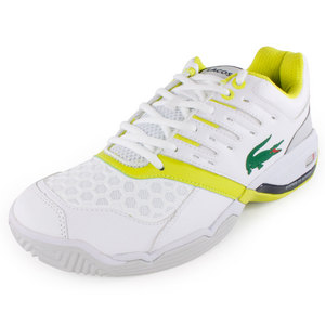 Men`s Gravitate Tennis Shoes White and Light Green