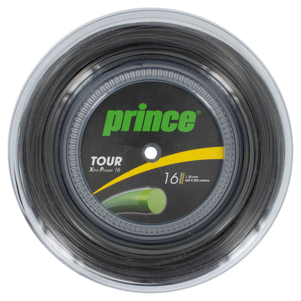 Tour Xp 16g 660 Feet Tennis String Reel Black
