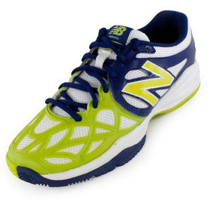 NEW BALANCE JUNIORS 996 TENNIS SHOES BLUE AND GREEN