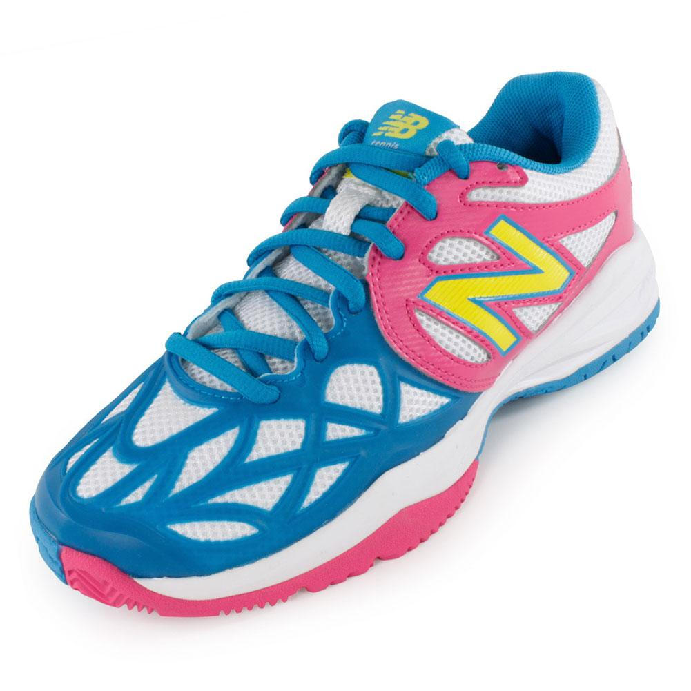 Juniors` 996 Tennis Shoes Pink and Blue An update to the 851 the New Balance Juniors 996 Tennis Shoes Pink and Blue is constructed with ProBank stability technology plus REVlite foam for a lightweight shoe with superior cushioning Backed by a oneyear NDurance durability guarantee
