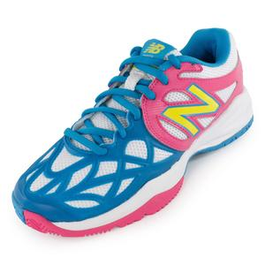Juniors` 996 Tennis Shoes Pink and Blue