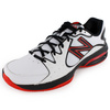 Men`s 786 2E Width Tennis Shoes White and Red by NEW BALANCE