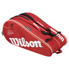 WILSON Federer Court 15 Pack Tennis Bag Red