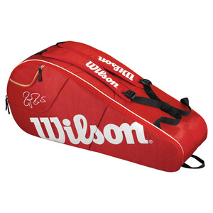 WILSON FEDERER TEAM 6 PACK TENNIS BAG RED