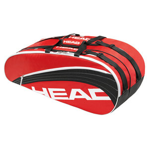 HEAD CORE COMBI TENNIS BAG RED AND BLACK
