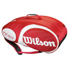 Team 9 Pack Tennis Bag Red and White by WILSON