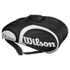 Team 12 Pack Tennis Bag Black and Silver by WILSON