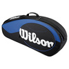WILSON Match 3 Pack Tennis Bag Blue and Black