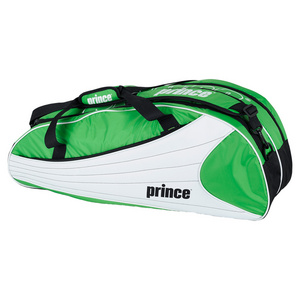 PRINCE VICTORY 6 PACK TENNIS BAG GREEN/WHITE