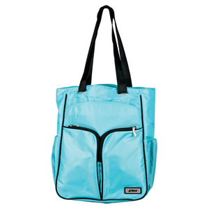 PRINCE WOMENS COURTSIDE TENNIS TOTE AQUA/BLACK