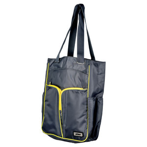 PRINCE WOMENS COURTSIDE TENNIS TOTE GRAY/CITRON