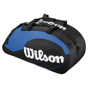 WILSON MATCH TENNIS DUFFLE BAG BLUE AND BLACK