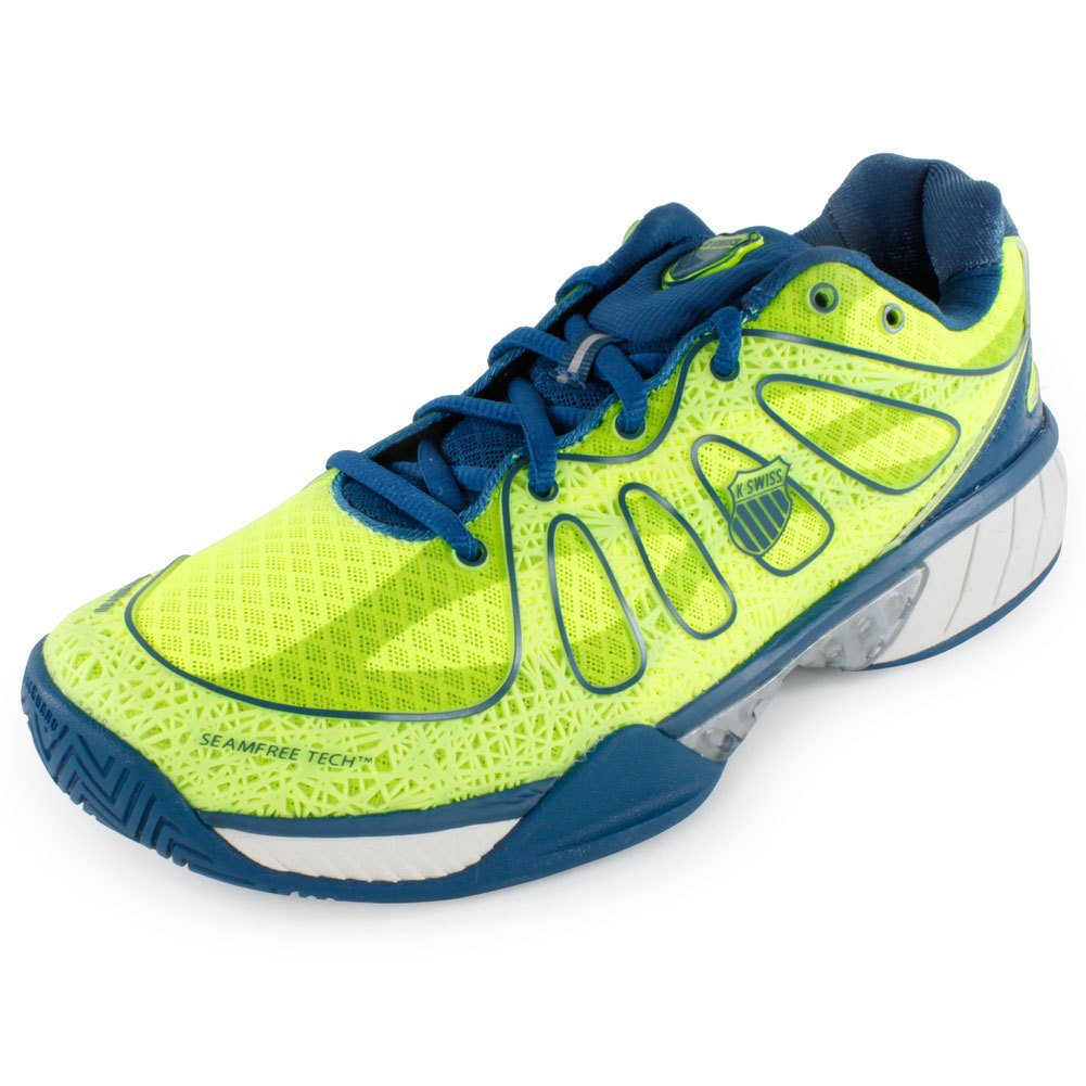 k swiss s ultra express tennis shoes green and blue
