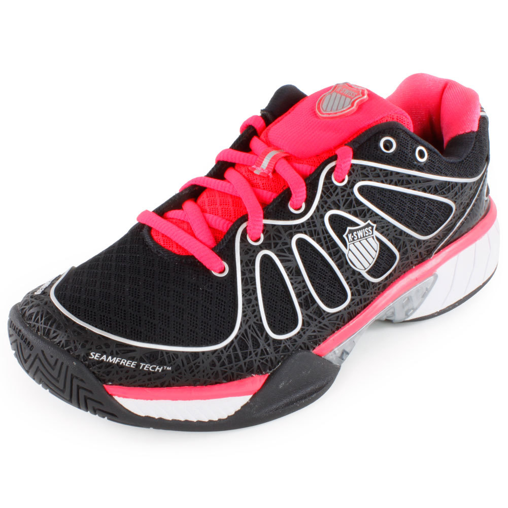 k swiss s ultra express tennis shoes black and pink