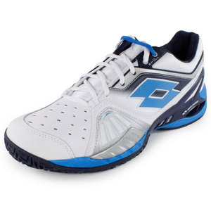 Men`s Raptor Ultra IV Clay Tennis Shoes White and Aviator