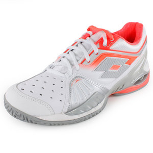 LOTTO WOMENS RAPTOR ULTRA IV SHOES WH/FL CAR