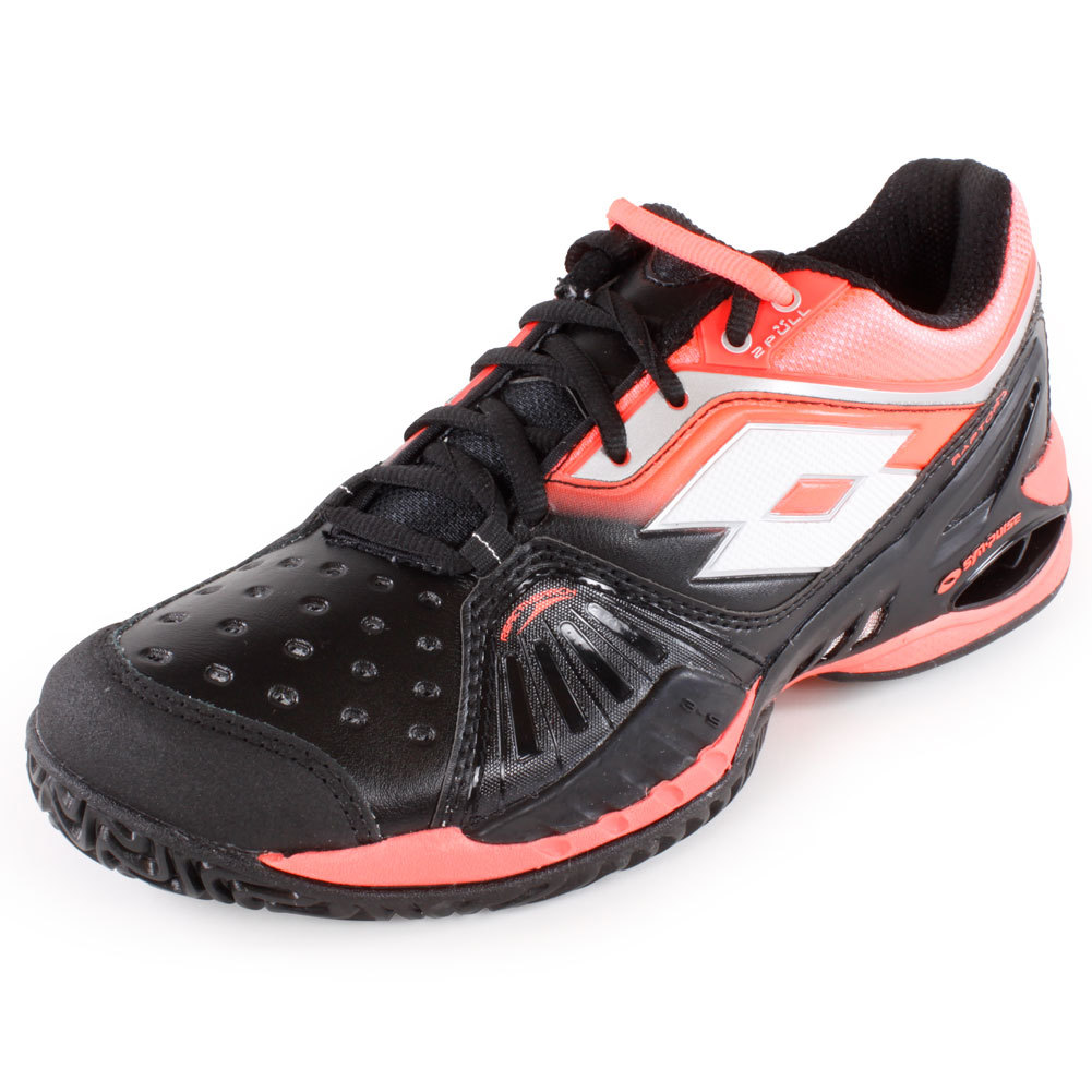 lotto s raptor ultra iv tennis shoes black and fluo