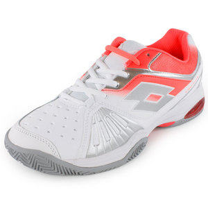 LOTTO WOMENS VECTOR VI TENNIS SHOES WH/FL CAR