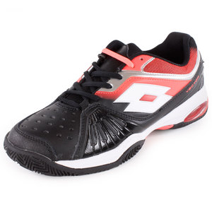 LOTTO WOMENS VECTOR VI TENNIS SHOES BK/FL CAR