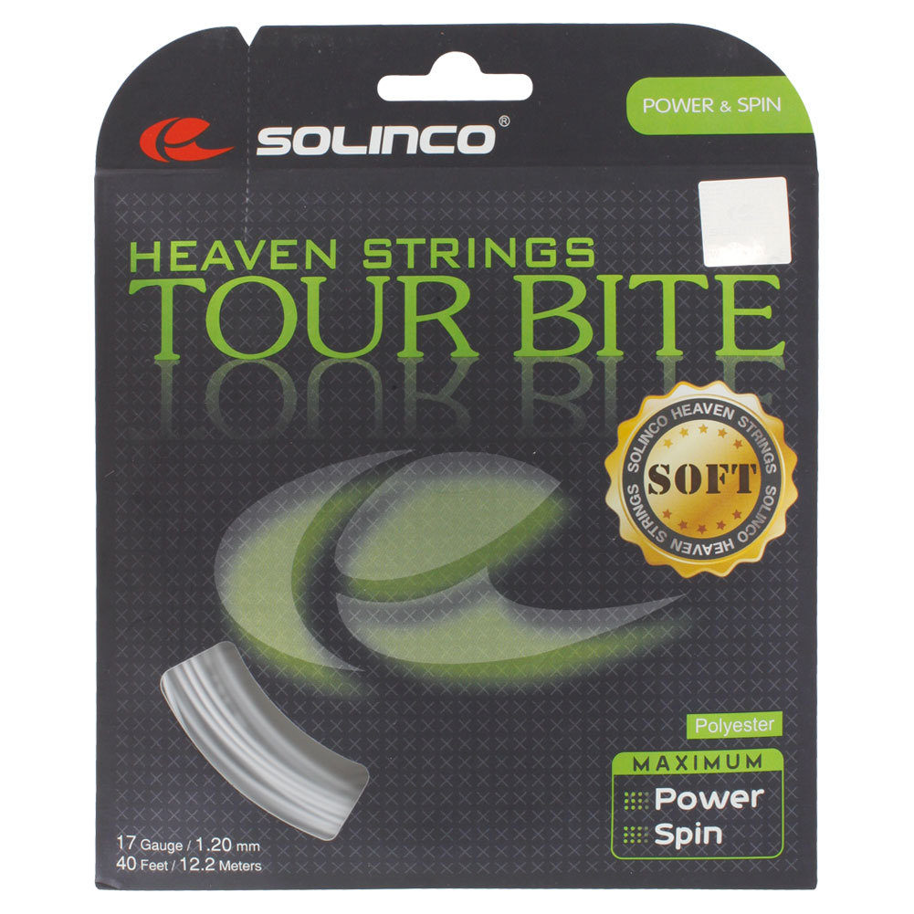 Tour Bite Soft Tennis String Light Silver