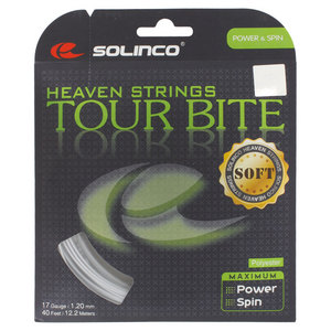 SOLINCO TOUR BITE SOFT TENNIS STRING LIGHT SILVR