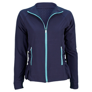 LIJA WOMENS BUBBLE HEM TENNIS JACKET MARINER