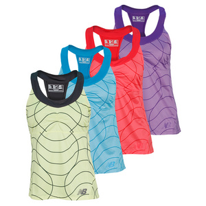 NEW BALANCE WOMENS PRINTED RACERBACK TENNIS TANK