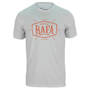 NIKE MENS RAFA TENNIS TEE LIGHT BASE GRAY