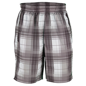 NEW BALANCE MENS COURT TENNIS SHORT PLAID SHALE