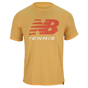 NEW BALANCE MENS BIG BRAND TENNIS TEE TECH A PEEL