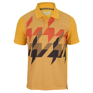 NEW BALANCE MENS GEOSPEED TENNIS POLO GOLDEN BLAZE