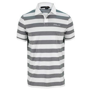 POLO RALPH LAUREN MENS YARN DYE JACQU STRIPE POLO PU WH/BH
