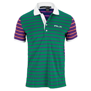 POLO RALPH LAUREN MENS YARN DYE TECH PIQUE POLO BERM GRN