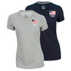 NIKE Women`s USA Dri-Fit Cotton Tee