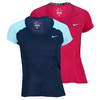 NIKE Women`s Power Short Sleeve Tennis Top