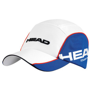 HEAD TOUR TEAM TENNIS CAP WHITE AND BLUE