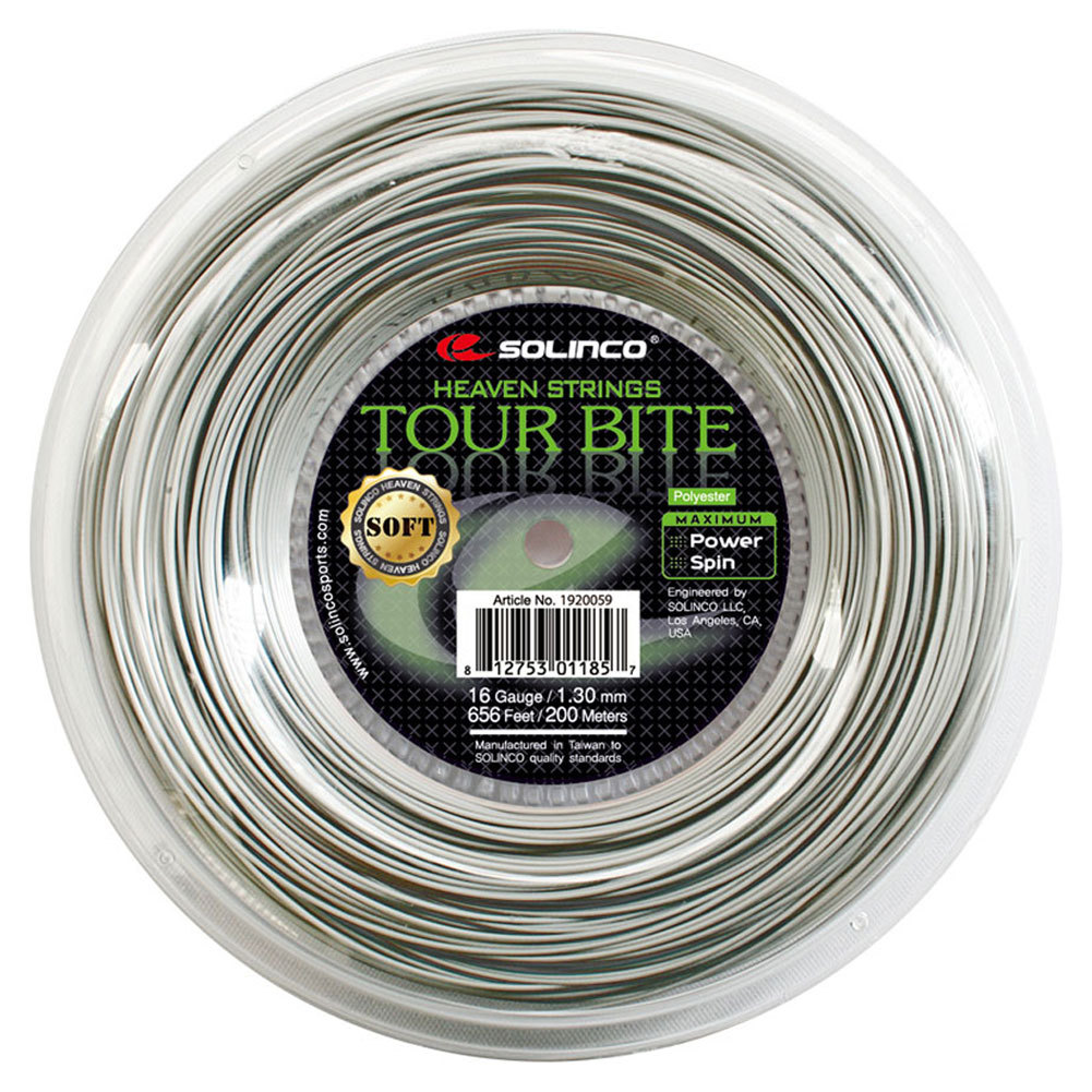 Tour Bite Soft Tennis String Reel Light Silver