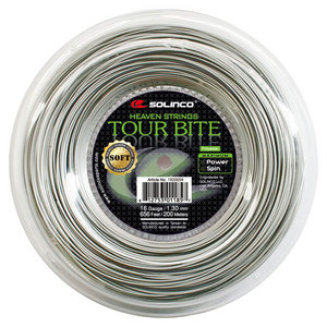 SOLINCO TOUR BITE SOFT TENNIS STRING REEL LT SIL