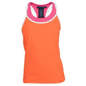 POLO RALPH LAUREN WOMENS ELITE WICK RACER TNS TANK CT OR/P