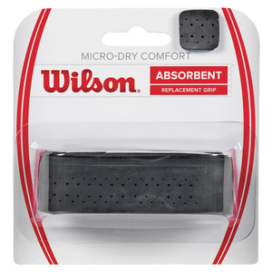 WILSON MICRO DRY + COMFORT REPLACEMENT GRIP BK