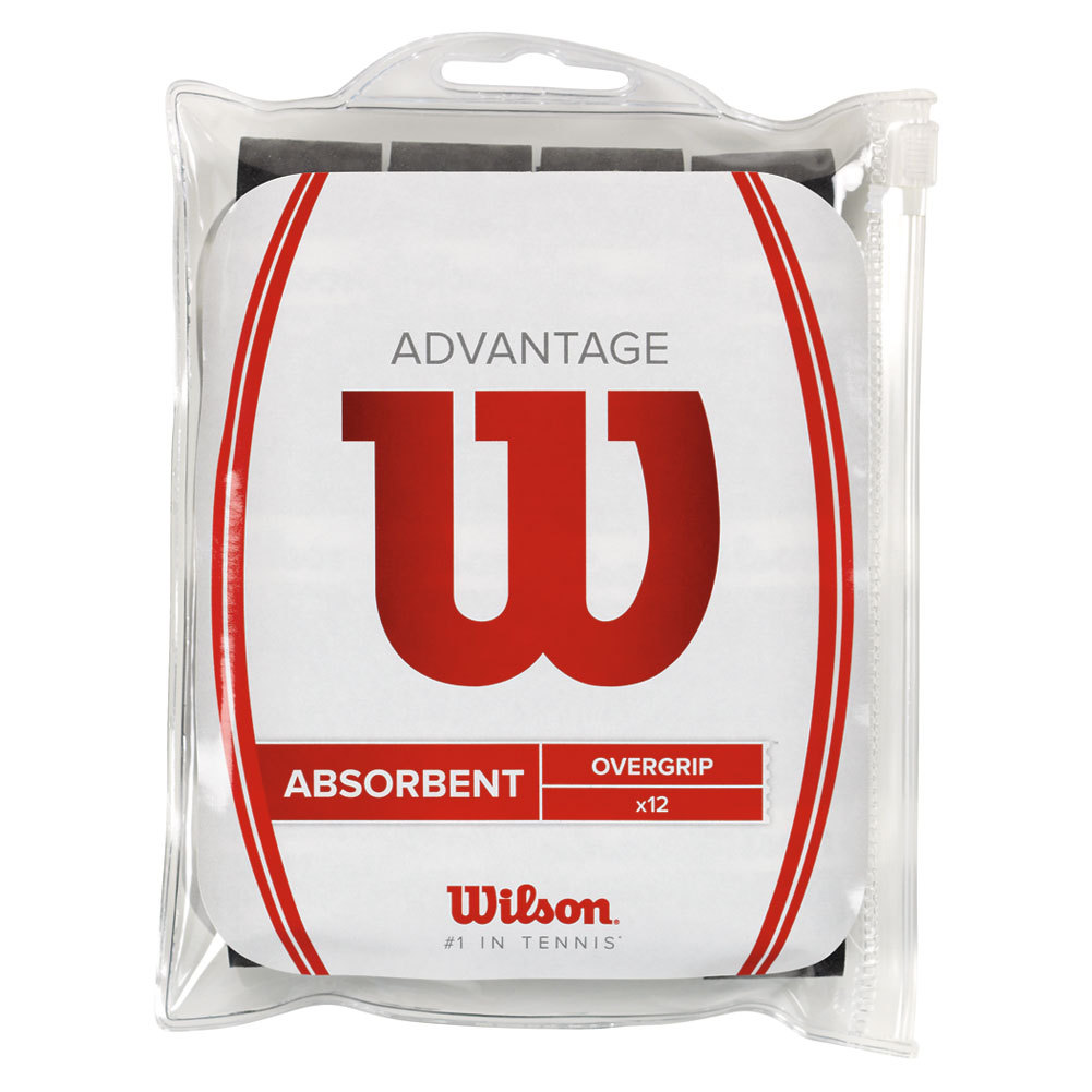 Advantage Tennis Overgrip 12 Pack Black