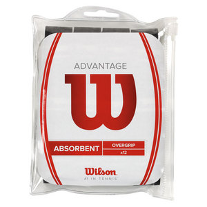 WILSON ADVANTAGE TENNIS OVERGRIP 12 PACK BLACK