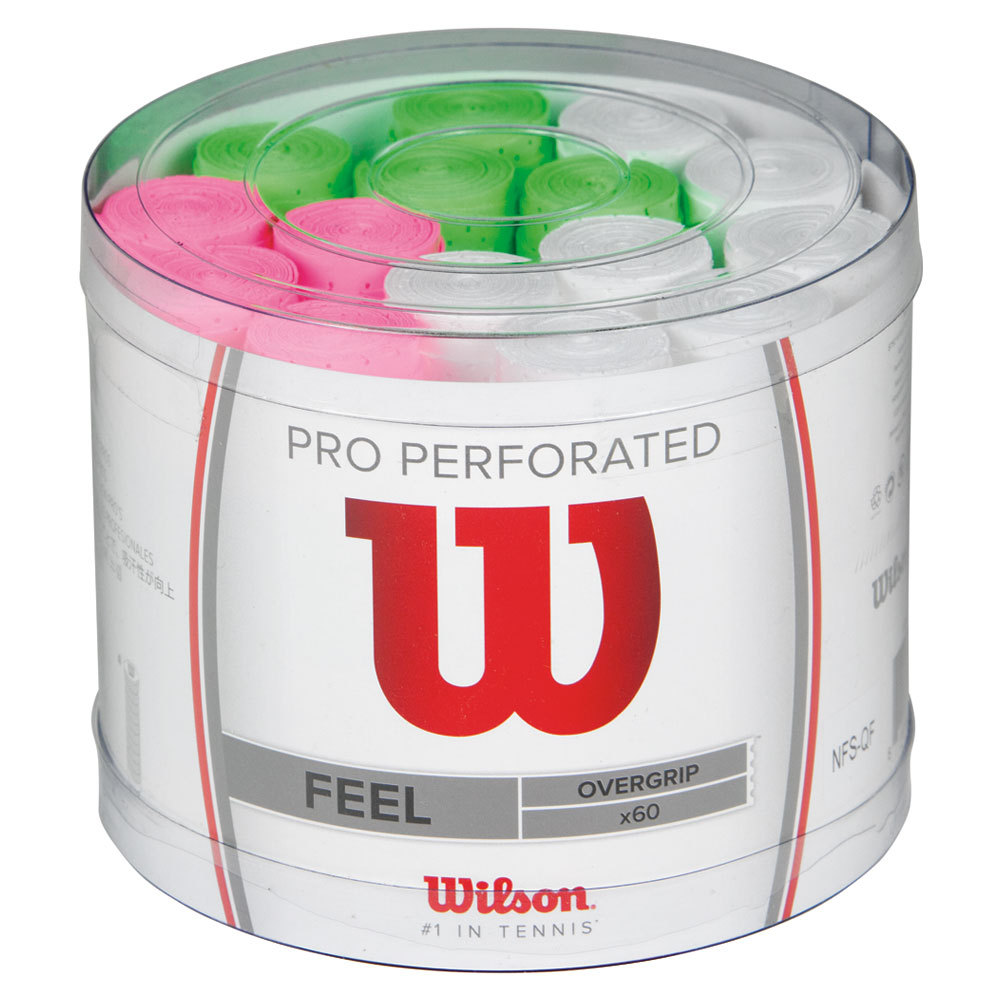 Pro Overgrip Perforated Bucket 60 Pack Assorted