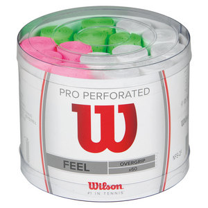 WILSON PRO OVERGRIP PERFORATED BUCKET 60PK ASTD