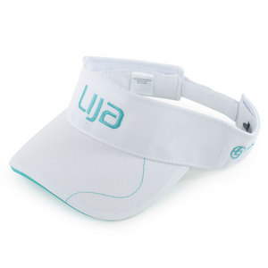 LIJA WOMENS TENNIS VISOR WHITE/TEAL