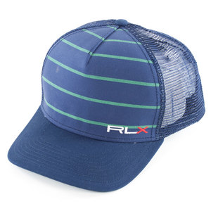 Men`s Mesh Back Sports Cap Navy and Green