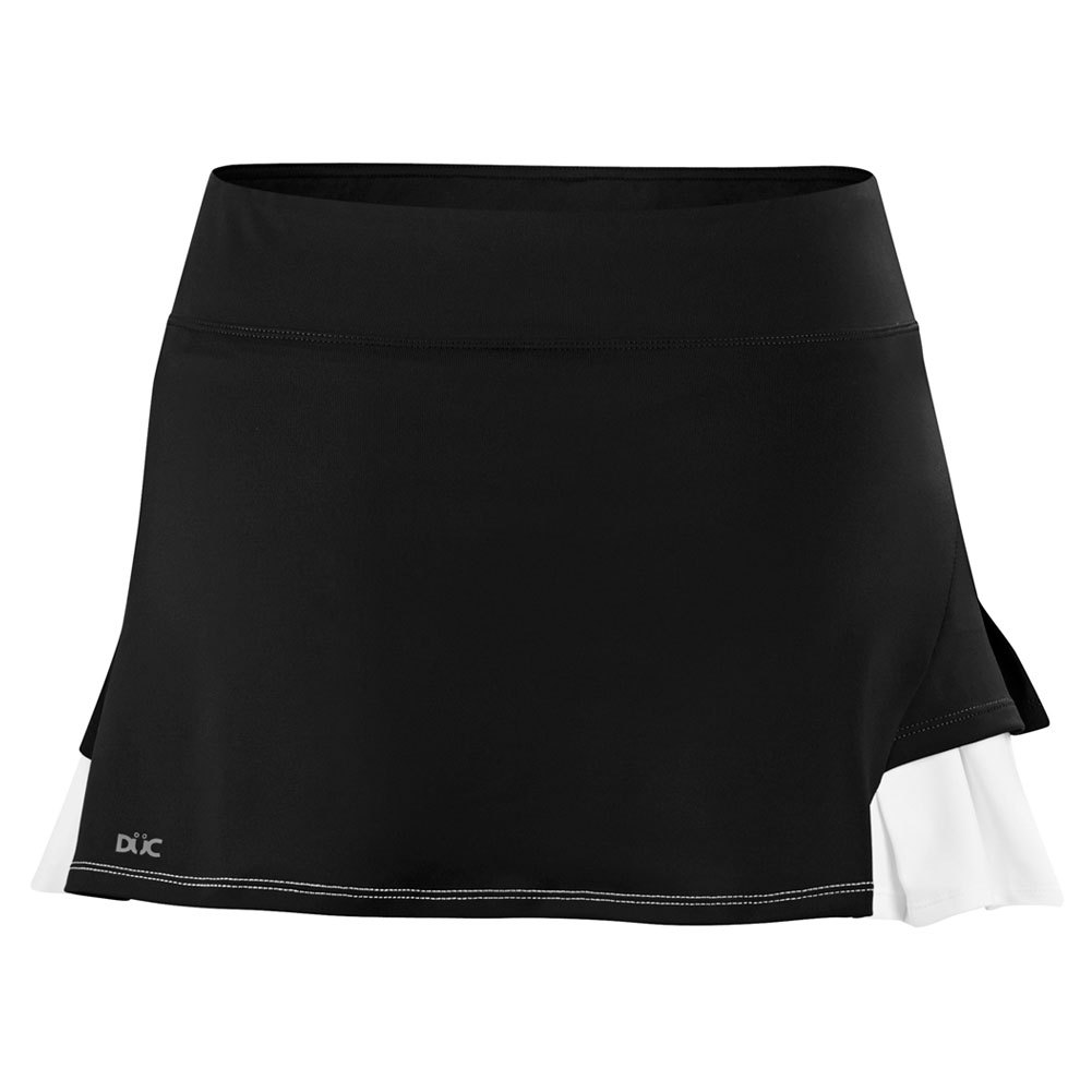 Women's Flirt Double Pleated Power Skirt Black And White