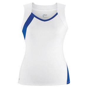Women`s Wink Fashion Tennis Tank White and Royal