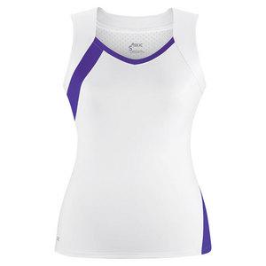 Women`s Wink Fashion Tennis Tank White and Purple