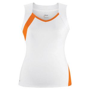Women`s Wink Fashion Tennis Tank White and Orange